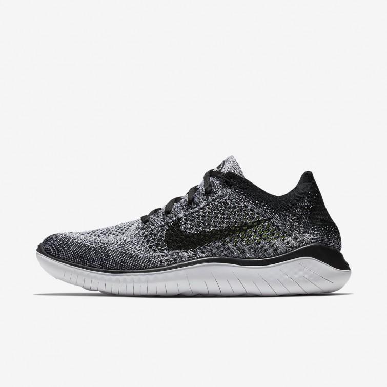 Zapatillas RN Running Nike Free RN Zapatillas Flyknit 2018 Hombre Blancas/Negras a166da