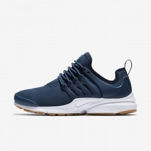 Nike Air Presto Lifestyle Shoes Womens Navy/Obsidian/Gum Light Brown 878068-403
