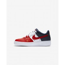 Nike Air Force 1 Lifestyle Shoes Boys University Red/Midnight Navy/University Gold 820438-603