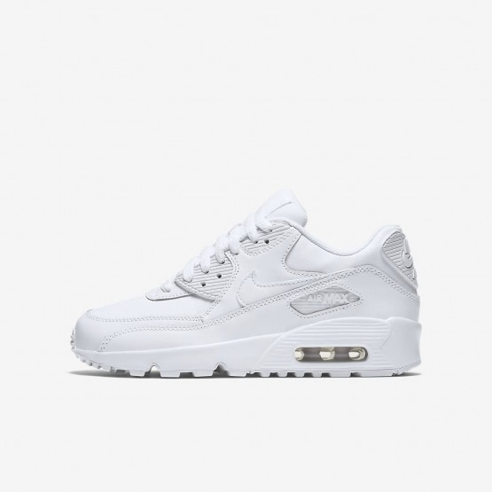 Nike Air Max 90 Lifestyle Shoes Boys White 833412-100