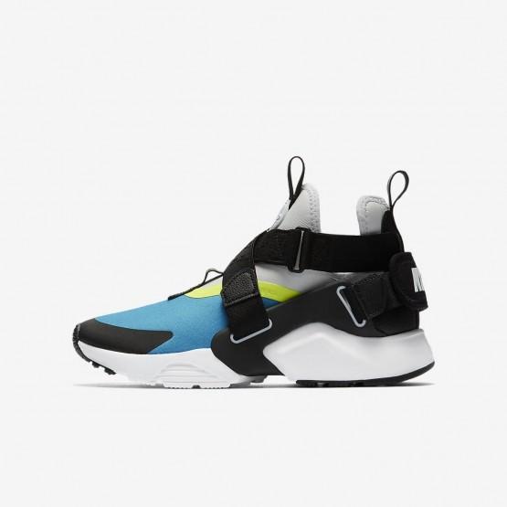Nike Huarache City Casual Schoenen Jongens LichtBlauw/Platina/Zwart AJ6662-400