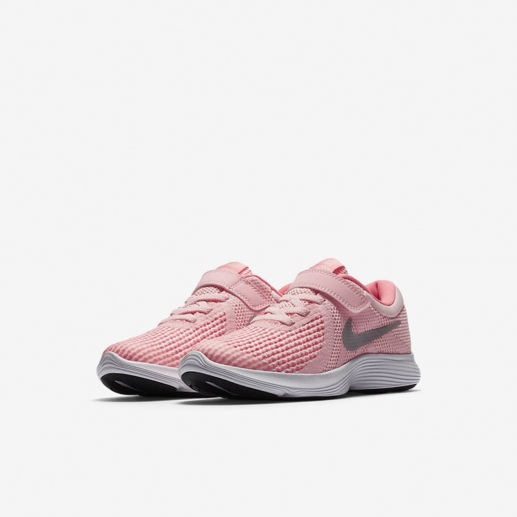 c925d536baad3 ... Nike Revolution 4 Running Shoes Girls Arctic Punch Sunset Pulse White Metallic  Silver