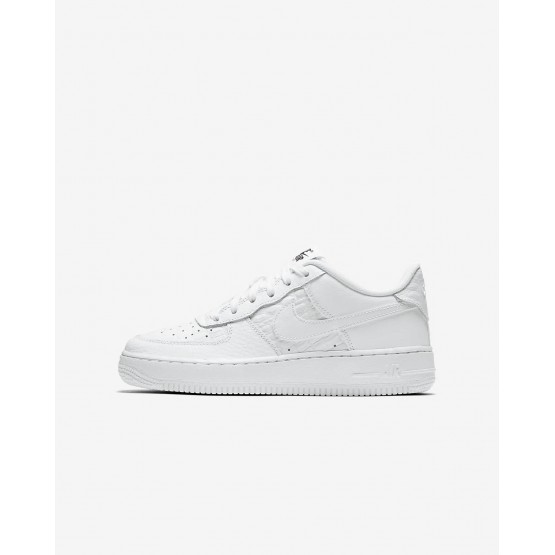 Nike Air Force 1 LV8 Lifestyle Shoes Boys Summit White/Black 820438-106