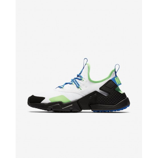 Nike Air Huarache Drift Lifestyle Shoes Mens White/Black/Blue Nebula AH7334-102
