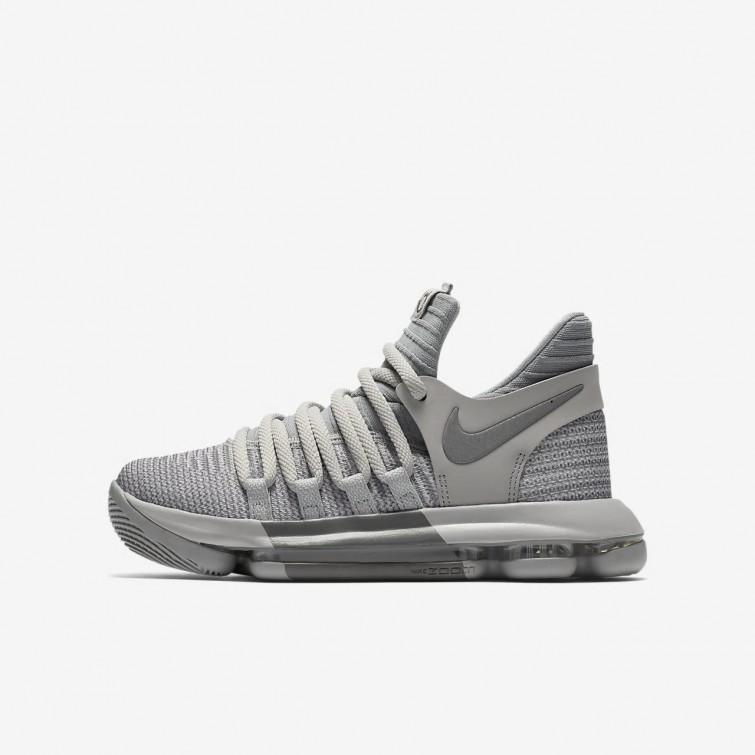 ac13fd193d69 Nike Zoom KDX Basketball Shoes Boys Wolf Grey Cool Grey 918365-007
