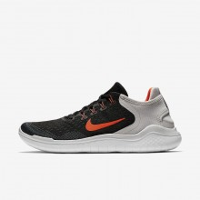 Nike Free RN 2018 Running Shoes Mens Black/Vast Grey/White/Total Crimson 942836-005