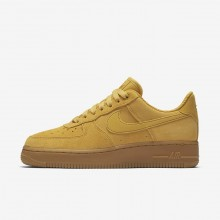 Nike Air Force 1 Lifestyle Shoes Womens Mineral Yellow/Gum Light Brown/Elemental Gold 896184-700