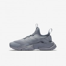 Nike Huarache Run Drift Casual Schoenen Jongens Grijs/Wit 943344-003