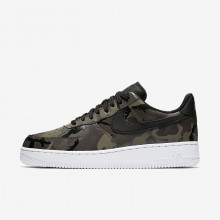 Nike Air Force 1 07 Low Camo Lifestyle Shoes Mens Medium Olive/Baroque Brown/Sequoia/Black 823511-201