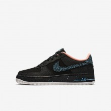Zapatillas Casual Nike Air Force 1 Pinnacle QS Niño Negras/Blancas AJ4234-002