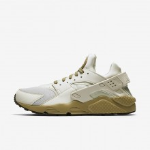 Nike Air Huarache Lifestyle Shoes Mens Light Bone/Neutral Olive/Black 318429-050