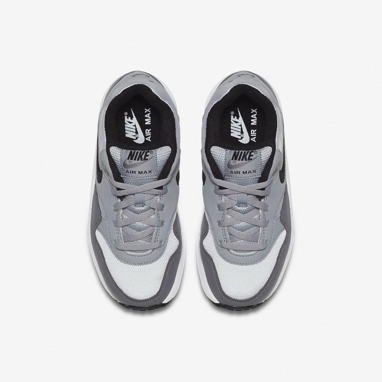 958dfd748f9f ... Nike Air Max 1 Lifestyle Shoes Boys White Wolf Grey Gunsmoke Black  807603