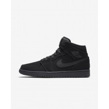 Nike Air Jordan 1 Mid Lifestyle Shoes Mens Black/White 554724-040
