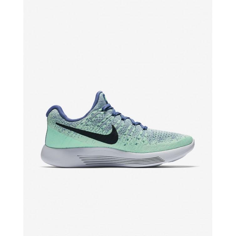 91cdd44d4531 ... Nike LunarEpic Low Flyknit 2 Running Shoes Womens Blue Moon Vapor  Green Green Glow ...