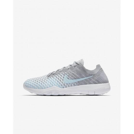 Nike Free TR Flyknit 2 Training Shoes Womens Wolf Grey/White/Glacier Ice 904658-004
