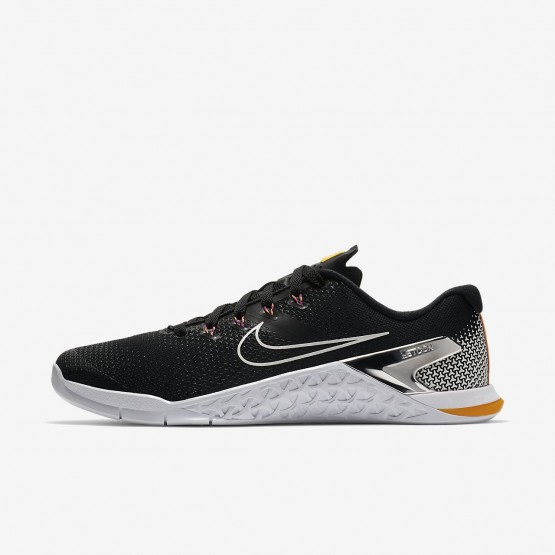 Deportivas Nike Metcon 4 Hombre Negras/Naranjas/Fucsia/Metal Plateadas AH7453-008