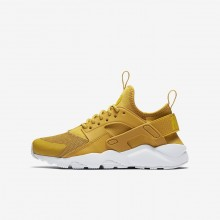 Nike Air Huarache Lifestyle Shoes Boys Mineral Yellow/Pure Platinum/Vivid Sulfur 847569-700