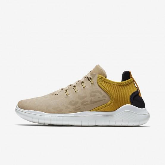 Nike Free RN 2018 Wild Running Shoes Womens Desert/Yellow Ochre/Oil Grey AQ0562-200