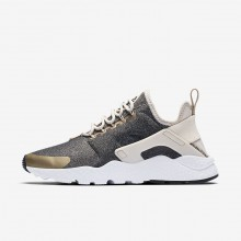 Nike Air Huarache Lifestyle Shoes Womens Light Orewood Brown/Blur/Black 859516-102