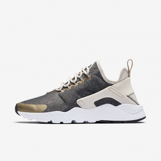 Nike Air Huarache Ultra SE Lifestyle Shoes Womens Light Orewood Brown/Blur/Black 859516-102