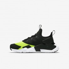 Nike Huarache Run Drift Lifestyle Shoes Boys Volt/White/Black 943344-700