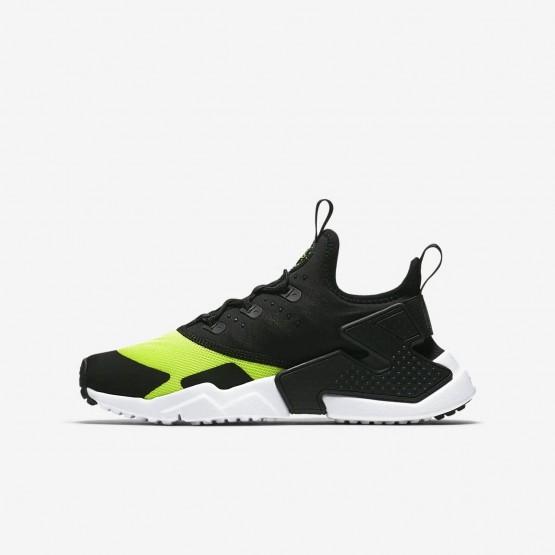 Nike Huarache Run Drift Lifestyle Shoes Boys Volt/White/Black 943344-700