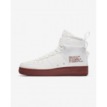 Nike SF Air Force 1 Mid Lifestyle Shoes Mens Ivory/Mars Stone 917753-100