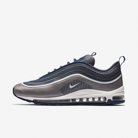 Nike Air Max 97 Ultra 17 Lifestyle Shoes Mens Navy/Light Carbon/White 918356-402