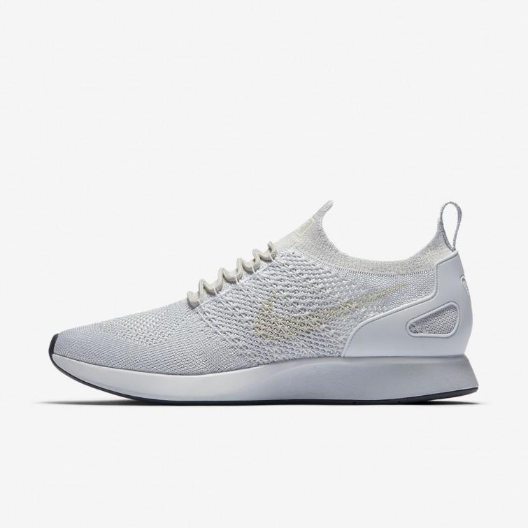 19b037dd319f6 Nike Air Zoom Mariah Flyknit Racer Lifestyle Shoes Mens Pure Platinum Light  Bone White