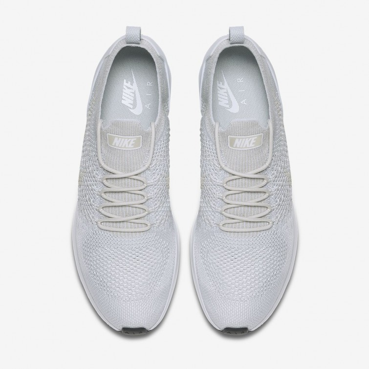 1468cb4d8cdd ... Nike Air Zoom Mariah Flyknit Racer Lifestyle Shoes Mens Pure Platinum  Light Bone White ...