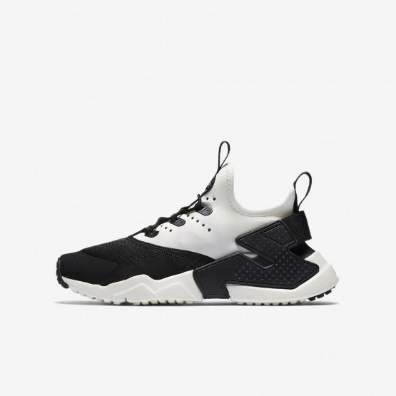 Nike Huarache Run Drift Casual Schoenen Jongens Zwart/Wit 943344-002
