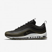 Nike Air Max 97 Ultra 17 HAL Lifestyle Shoes Mens Black/Medium Olive/Light Pumice/Dark Hazel AH9945-001