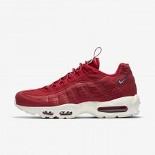 Nike Air Max 95 Lifestyle Shoes Mens Gym Red/Gym Blue/Sail AJ1844-600