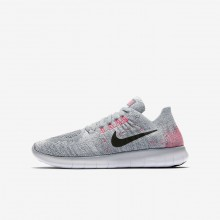 Nike Free RN Flyknit 2017 Running Shoes Boys Wolf Grey/Pure Platinum/Cool Grey/Black 881974-001