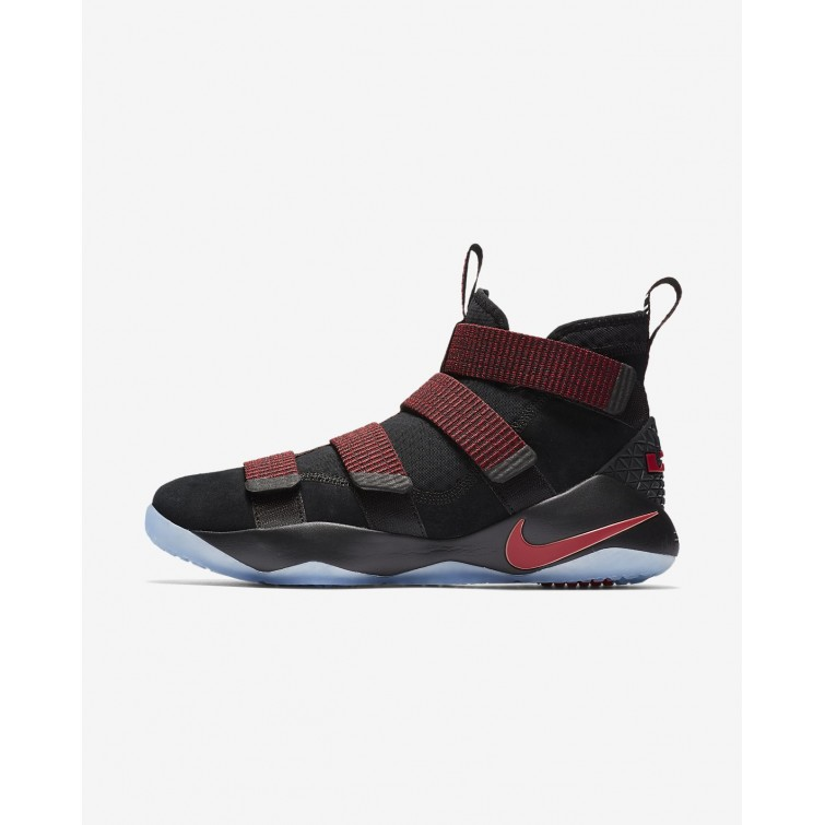 Nike LeBron Soldier XI Basketball Shoes Womens Black Red Stardust Gym Red  897644- ac8b7df00c