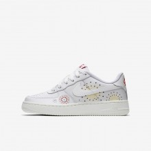 Zapatillas Casual Nike Air Force 1 Pinnacle QS Niño Blancas/Rojas/Verde AJ4234-100