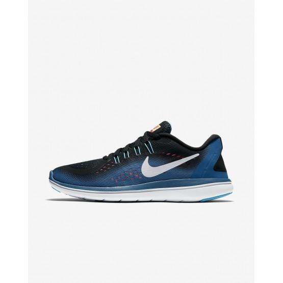 Nike Flex 2017 RN Running Shoes Womens Black/Industrial Blue/Racer Pink/White 898476-004
