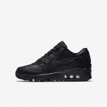 Zapatillas Casual Nike Air Max 90 Leather Niño Negras 833412-001