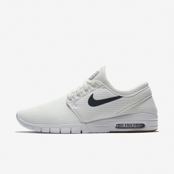 Nike SB Stefan Janoski Max Skateboarding Shoes Mens Summit White/Gum Medium Brown/White/Thunder Blue 631303-103