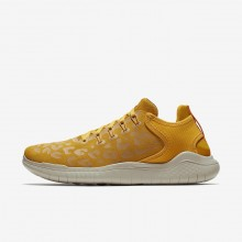 Nike Free RN 2018 Wild Running Shoes Womens Yellow Ochre/University Gold/Oil Grey AQ0562-700