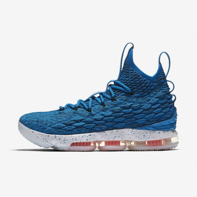 e910ce145ca ... free shipping nike lebron 15 basketball shoes womens photo blue total  orange summit white 897648 25532