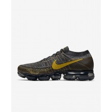 Nike Air VaporMax Flyknit Running Shoes Mens Black/Dark Grey/Mineral Gold 849558-021