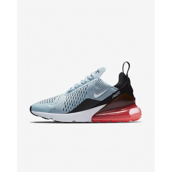 Nike Air Max 270 Lifestyle Shoes Womens Ocean Bliss/Black/Hot Punch/White AH6789-400