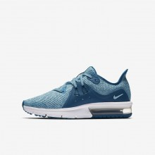 Nike Air Max Sequent 3 Running Shoes Girls Green Abyss/Bleached Aqua/White/Igloo 922885-300