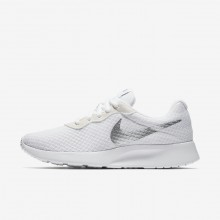 Nike Tanjun Lifestyle Shoes Womens White/Metallic Silver 812655-101