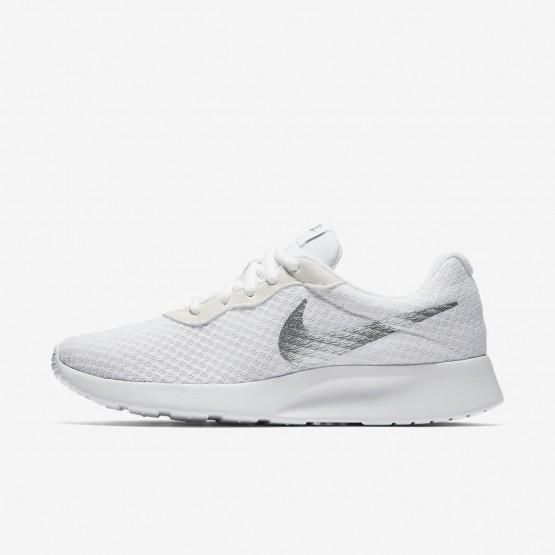 Nike Tanjun Casual Schoenen Dames Wit/Metal Zilver 812655-101