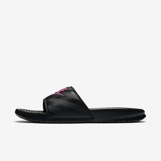 Nike Benassi Lifestyle Shoes Womens Black/Vivid Pink 343881-061