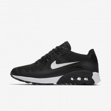 Nike Air Max 90 Ultra 2.0 Flyknit Lifestyle Shoes Womens Black/Dark Grey/White 881109-004