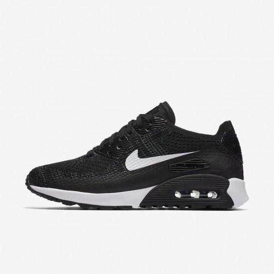 Nike Air Max 90 Ultra 2.0 Flyknit Lifestyle Shoes Womens Black/Dark Grey/White 881109-004