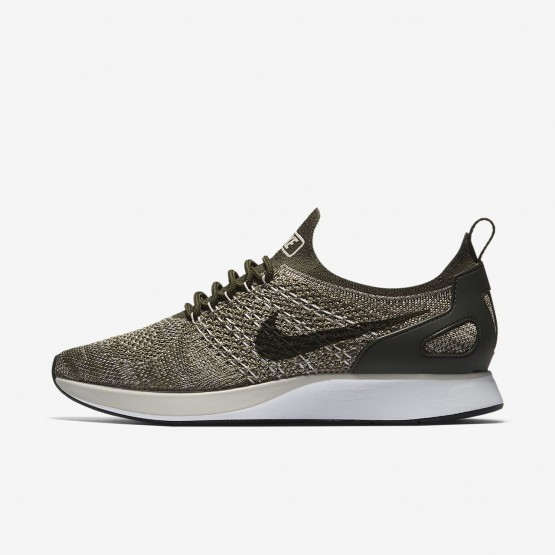 Nike Air Zoom Mariah Flyknit Racer Lifestyle Shoes Womens Cargo Khaki/Summit White/Light Bone AA0521-301
